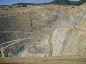 Pit at the Kennecott Mine