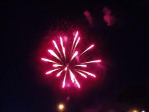 Vermillion fireworks