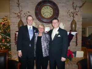 Mary with Andy and Mike