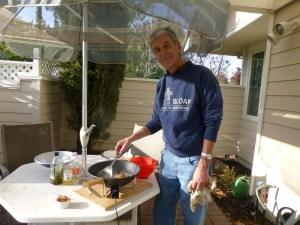 John at his latke fry station
