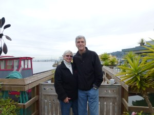 Mary and John at the end of one of the piers