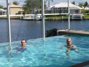 John and Jon in the pool