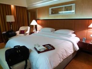 Our room at the Shanghai Ritz Carlton
