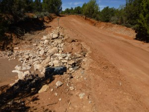 The old wash site has been upgraded with a culvert and an at grade crossing,
