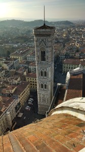 View of the Campanile from the top of the Duomo