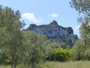 Les Alpilles form the backdrop for Glanum