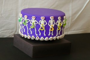 "Sam's party has a ""Dem Bones"" theme. Auntie Leigh supplies the cake."
