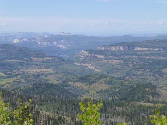 Panorama from near Cedar Breaks NM back towards Zion NP