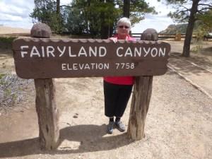Mary at Fairyland Canyon