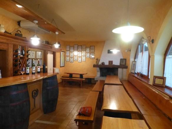 Pilato Winery tasting room