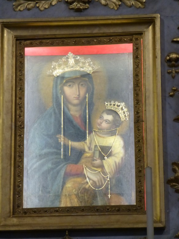 Perfectly good Madonna and Child now wear crowns and jewelry
