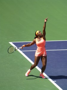 Serena Williams playing at Indian Wells for the first time in 14 years