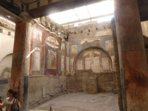Room decorated with wall paintings