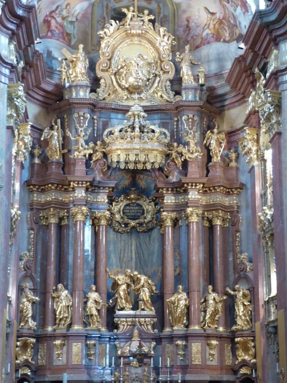 Closer look at high altar