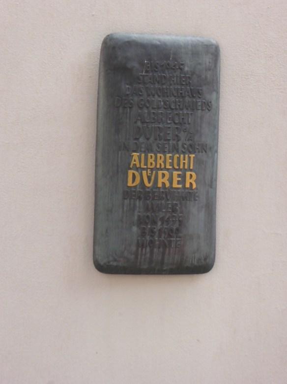 Albrecht Durer lived here plaque