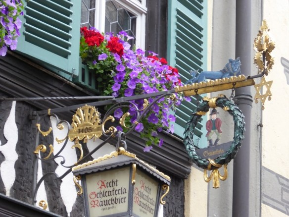 Sign for the tavern selling Rauchbier