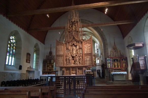 Interior of Herrgottskirche, Creglingen