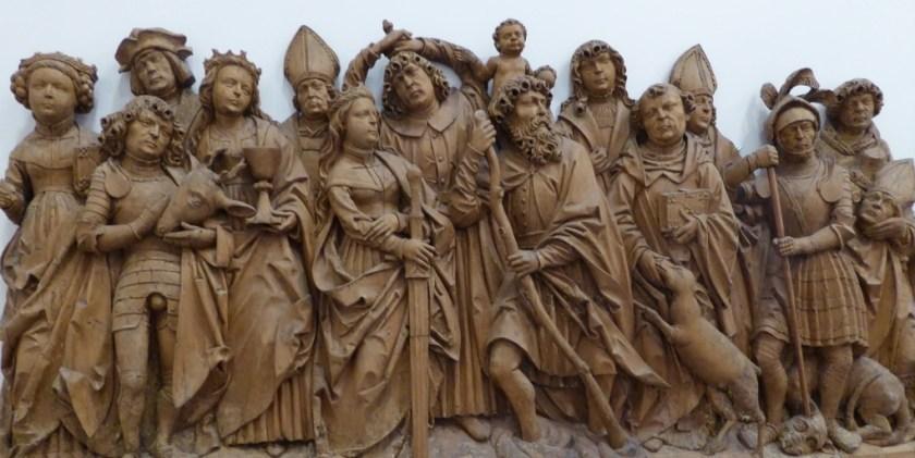 Tilman Riemenschneider's carving of the Fourteen Holy Helpers