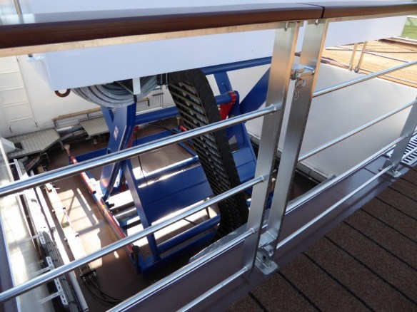 Hydraulics used to raise and lower the wheelhouse