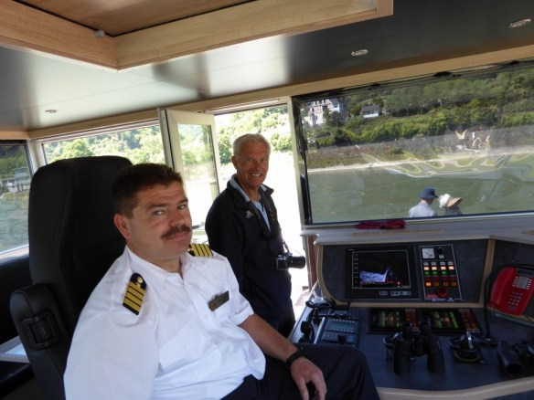 Ted is so happy in the wheelhouse with the captain