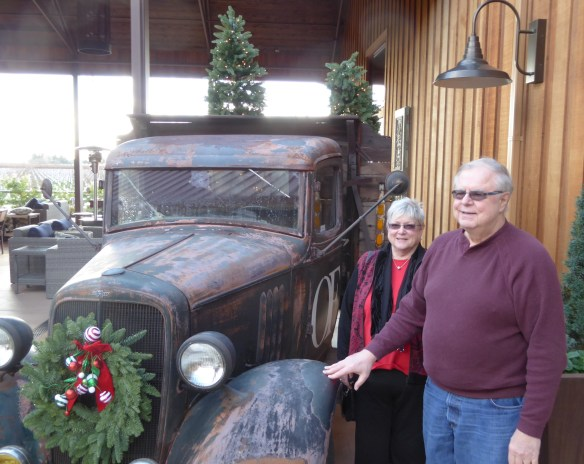 George and Mary with vintage car (like us!)