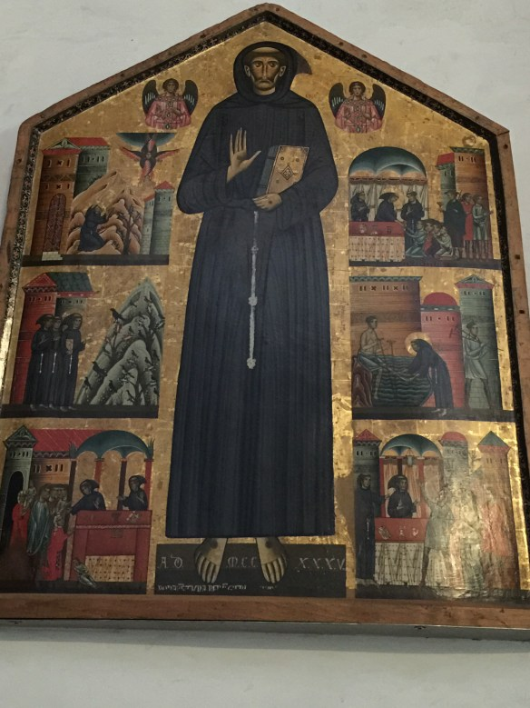 From the Church of San Francesco a painting done in 1235- the first painting done of St. Francis only nine years after his death