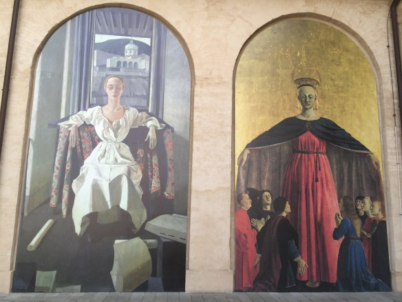 A comparison between Piero della Francesca's Madonna della Misericordia (1460-62) and Felice Casorato's Silvana Cenni (1922)