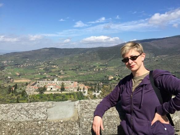 Sarah in Cortona