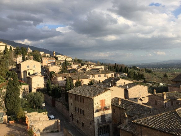 View from the terrace of the Giotto Hotel bar