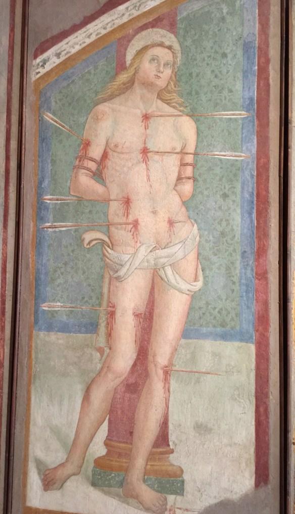 St. Sebastian, the poster boy hot guy of the 1330's