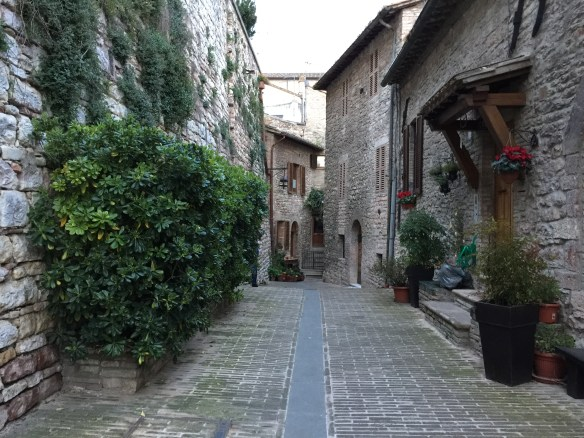 A quiet lane in Assisi