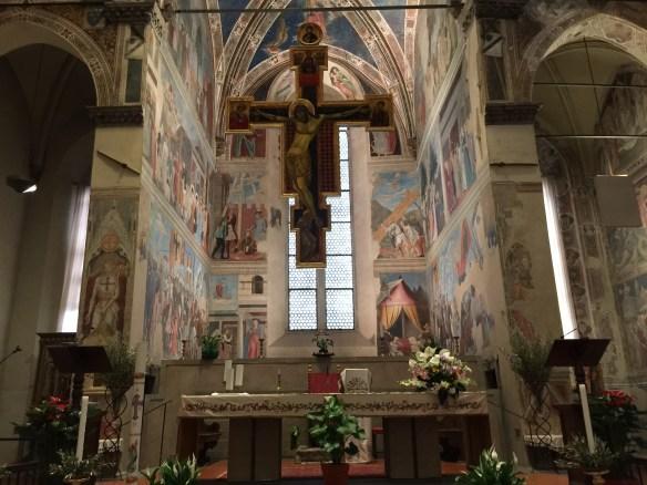Altar area with The Legend of the True Cross by Piero Della Francesca