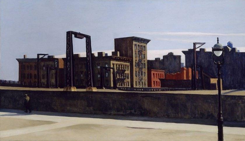 Example used as a comparison, Manhattan Bridge Loop by Edward Hopper (1928)