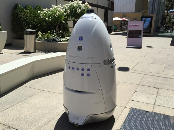 The security robot at the Stanford Shopping Center that Sarah and I ran into