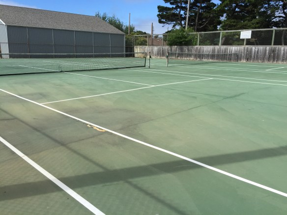 Neglected tennis courts