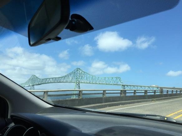Approaching the Columbia River bridge