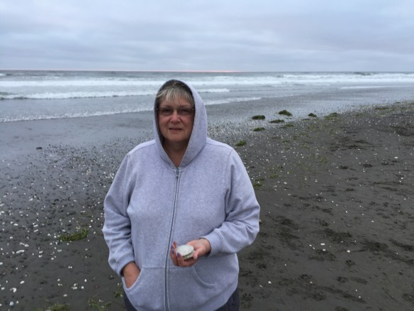 Cold woman and the sea