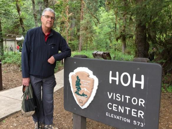 John at the Hoh Visitor Center