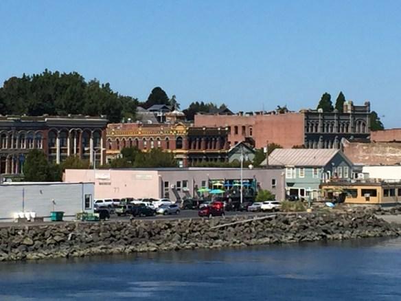 Looking back at Port Townsend, Washington