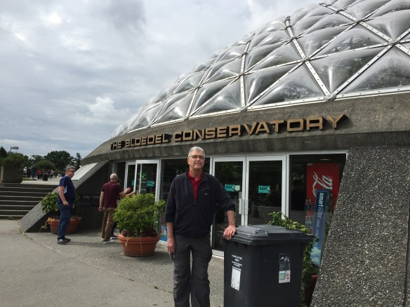 John in front of Bloedel Conservatory