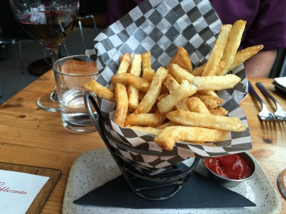 These are french fries that are cooked in duck fat. They are soggy and not great. BOO!