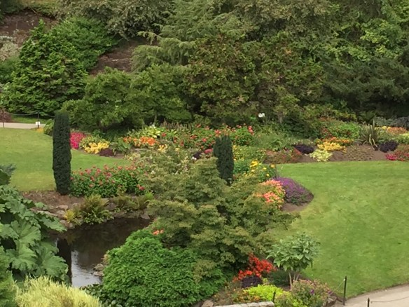 Looking down into the Little Quarry Garden