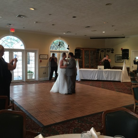 Melissa and Rob first dance