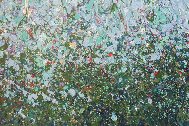 Green Rise - Painting by Mary Narduzzo