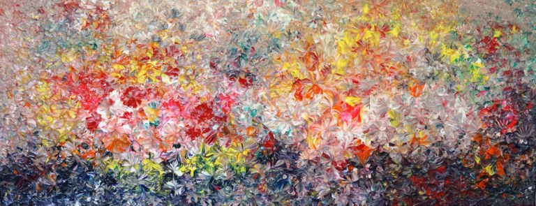 Vivid Bloom - Painting by Mary Narduzzo