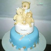 Una famiglia di orsetti per il battesimo del piccolo Sebastiano.