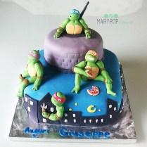 Torta dedicata alle tartarughe ninja per il piccolo Giuseppe