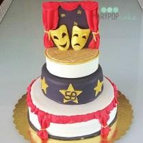 torta teatro (maschere teatrali)