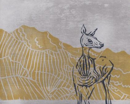 "Mountain Deer // linocut print // 8"" x 10"""