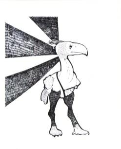 """Terror Bird // 14"""" x 11"""""""